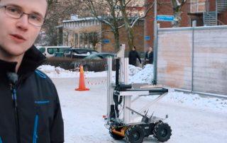 robô de coleta de lixo